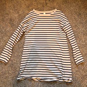 Cream & black striped dress from H&M